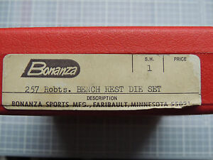 Bonanza 257 Roberts  Bench Rest 3 Die Set with  FL and Neck Sizers     DB5