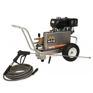 Mi-T-M Professional 4000 PSI (Gas-Cold Water) Aluminum Frame Pressure Washer ...
