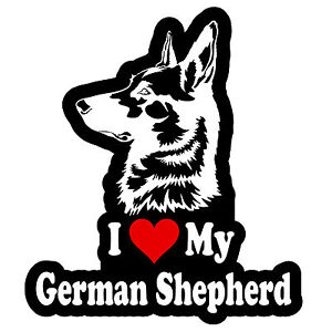 I Love My German Shepherd Decal Sticker Car Window Bumper 5quot; Inches FC332