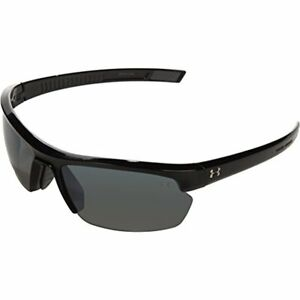 Under Armour Under Armour Stride XL Rectangle Sunglasses Shiny Black FrameGray