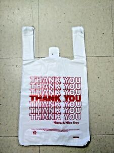 Medium T-Shirt Thank You Bags 10