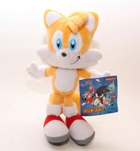Sonic The Hedgehog Tails Yellow Plush Doll Stuffed Figure Toy 8 inch Gift