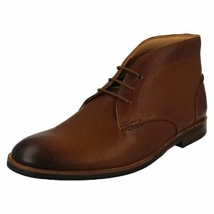 Mens Clarks Broyd Mid Smart Tan Leather Lace Up Boots $120.71