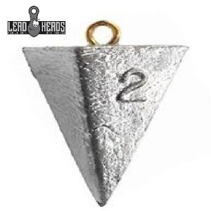 Lead Heads (40 PC) Choice Size Pyramid Fishing Sinkers Fishing Weights