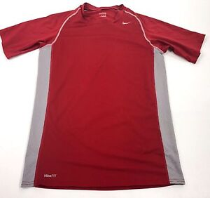 Nike Fit Dry Youth Running Athletic Shirt Red Boys Size XL 35 Inch Chest Vintage