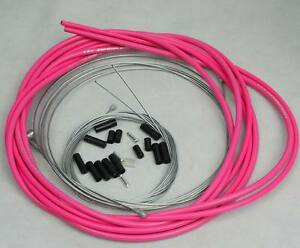 BICYCLE JAGWIRE HOUSING CABLE COMPLETE KIT HOT PINK $14.62