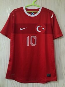 TURKEY NATIONAL TEAM 2012 2013 NIKE PLAYER ISSUE HOME FOOTBALL SHIRT JERSEY #10