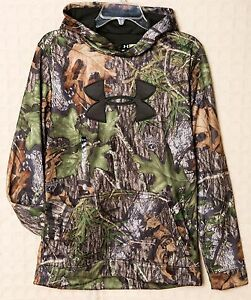 NWT Under Armour MOSSY OAK Storm1 Men's Boy's Hoodie Pull-Over Sweatshirt Camo