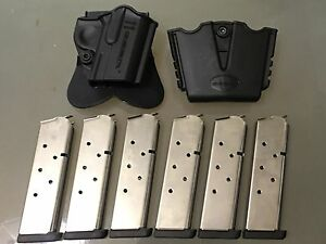 Springfield Armory Original 1911 Holster 6 Mags and Double Mag Pouch WFree shp