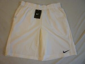 NIKE Dri-Fit Tennis Shorts Mens M $50 White New With Tags