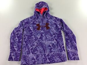 Under Armour Storm Hoodie Sweatshirt Youth XL YXL Purple Pink Red Girls 6541