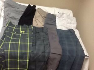 Men's Under Armour Golf Shorts Size 42 (Lot Of 9)