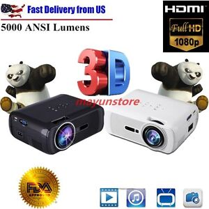 Projector 2018 Upgraded Crenova HD Home Portable Video Projector (for PCMACTV)