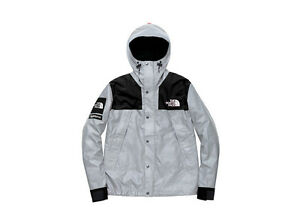 Rare Supreme The North Face TNF Mountain Parka 3M Jacket Large Black and Silver