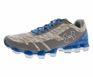 UNDER ARMOUR Mens UA SCORPIO Running Sneakers 11.5 SteelWhiteBLUE JET