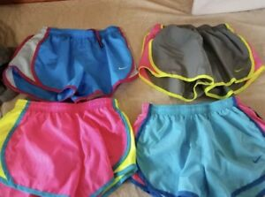 Girls Lot 4 Small Nike Dri Fit Dry Lined Athletic Running Jogging Shorts