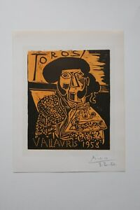 After Pablo Picasso TOROS lithograph signed Picasso with date $250.00