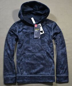 NWT GIRLS YOUTH UNDER ARMOUR STORM BLACK PULLOVER HOODIE JACKET COAT SZ YS