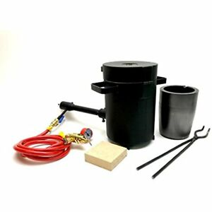 Cast Masters Propane Furnace W 5Kg Crucible Tongs Kiln Smelting Gold Silver NEW