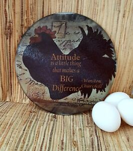 small round Tempered glass cutting board -non-slip surface 8in -