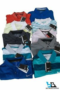 NWT! LOT OF 10~NIKE TOUR PERFORMANCE Dri Fit SS Golf Polo Shirts Men's Small L2
