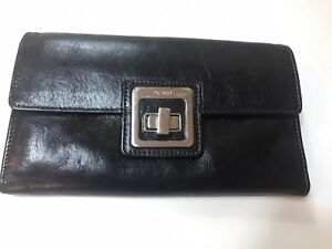 Pre-owned Picard Women's Leather Black trifold Wallet