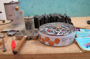 LEAD TIN SOLDIER KIT MOLD LEE ELECTRIC MELTING POT MANY PARTS