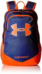 Under Armour Boys' Storm  Backpack School Laptop Orange Blue Large Sports Active
