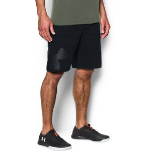 Under Armour Mens Rival Midweight Fleece Exploded Graphic Logo Shorts