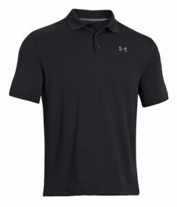 NEW Under Armour Men's Tactical UPF30+ Performance Golf Polo BLACK SIZE MEDIUM