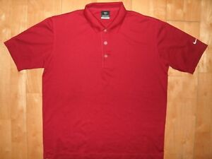 NIKE GOLF Youth Kids Boys FIT DRY Extra Large XL Embroidered Red Polo Shirt LOOK