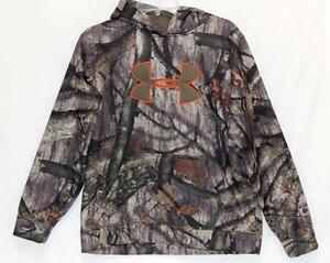 Under Armour Youth Boys Size XL (18-20) Camouflage Cold Gear Hoodie Sweatshirt