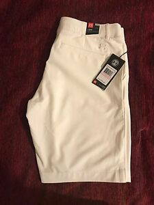 Womens NWT White Under Armour Golf Shorts SIZE 10