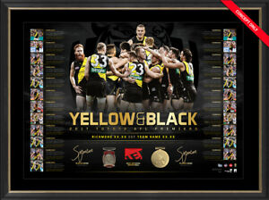 YELLOW AND BLACK DUAL SIGNED 2017 RICHMOND PREMIERS LTD ED LITHOGRAPH