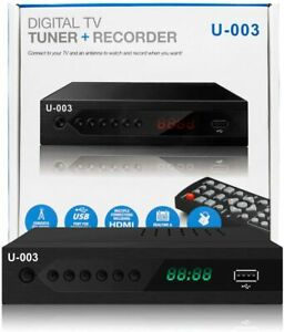 HDTV Digital TV Converter Box with Recording and Media Player Remote Control
