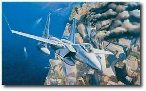 Ground Zero, Eagles On Station 9 11 2001 by Rick Herter F 15 Eagles Canvas