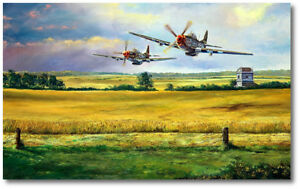 Hurryin' Home Horses by Rick Herter P 51 Mustang Aviation Art Print