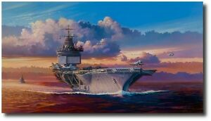 Into the Wind; The USS Enterprise on Yankee Station by Rick Herter Canvas