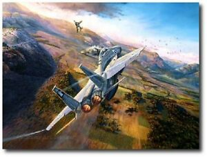 Showdown Over The Bekaa by Rick Herter Canvas Aviation Art