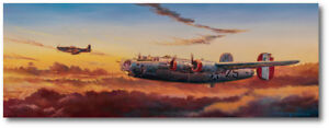Teammates by Rick Herter Consolidated B 24 Liberator, P 51 Mustang Aviation