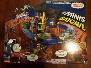 New!!! Fisher Price DC Super Friends Thomas And Friends Minis Batcave Playset