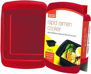 MICROWAVE RAPID RAMEN COOKER • FASTEST EASIER WAY TO COOK RAMEN NOODLES BPA-FREE