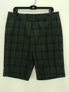 NWT $75 Ashworth Mens Black Golf Shorts AM6079F3