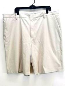 NWT $65 Ashworth Mens EZ-Tec2 Golf Shorts Performance wear  Light Khaki AM6116S4