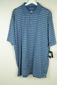 Nike Golf Mens Blue Tiger Woods Collection Fit Dry Golf Polo Shirt NWT SZ XL