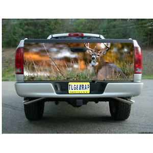 T74 DEER HUNTING BUCK Tailgate Wrap Vinyl Graphic Decal Sticker LAMINATED