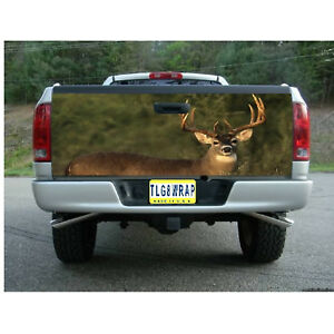 T82 DEER HUNTING BUCK Tailgate Wrap Vinyl Graphic Decal Sticker LAMINATED