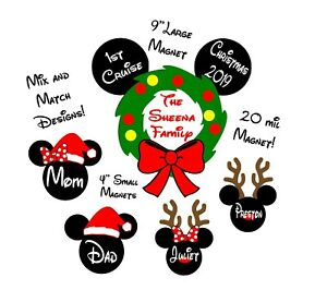 Custom Disney Inspired Christmas Cruise Magnet, Personalized Door Magnet Holiday