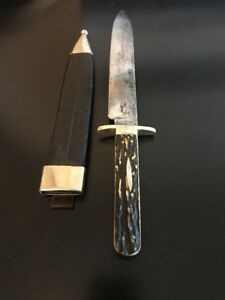 Joseph Rodgers & Sons Bowie Knife-Stag-Sheffield-Antique