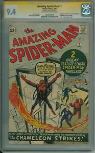 Amazing Spider-man 1 CGC 9.4 SS Signed Lee CBCS Highest Graded 1963 ERComics